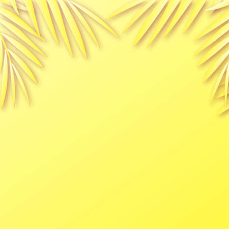 Summer background with shadow of tropical leaves. Vector. Ilustração