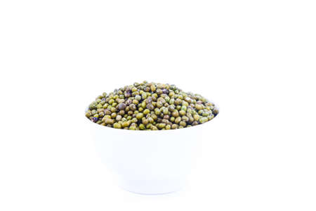 Mung bean in a mug and isolated photo