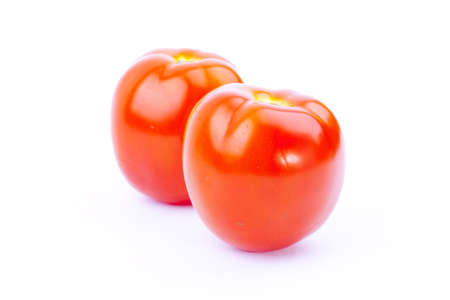 Two tomato with isolation background photo