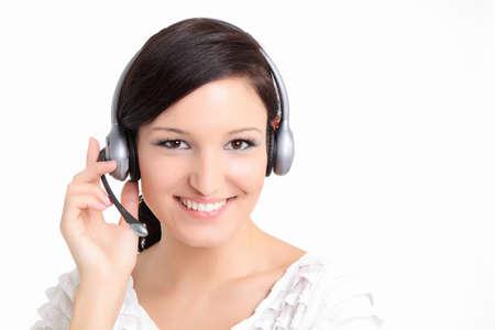 Smiling call center technician women photo