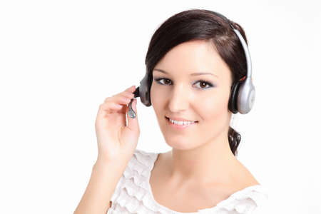 Call center technician with a headset photo
