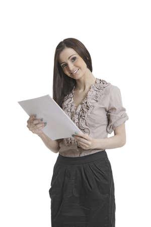 Sch�ne Business-Assistent mit Dokumenten