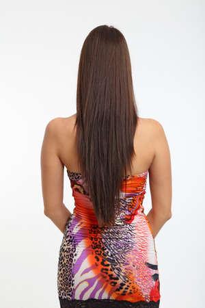 plan éloigné: Les femmes aux cheveux longs par derrière Banque d'images