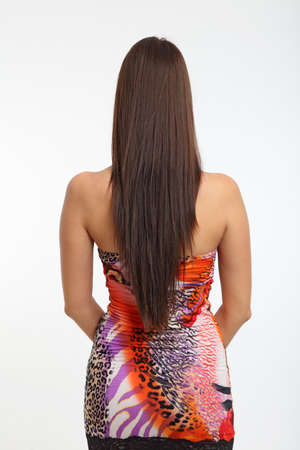 hair back: Women with long hair from behind