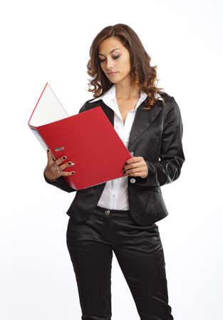 Gesch�ftsfrau Lesen von Dokumenten