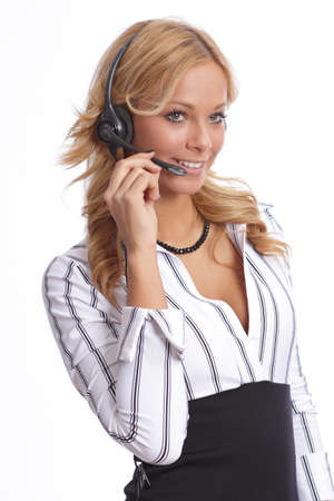 Helpdesk agent speaking