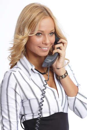 Attraktive Gesch�ftsfrau am Telefon