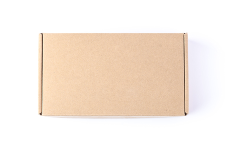 white view: Cardboard Box isolated on a White background