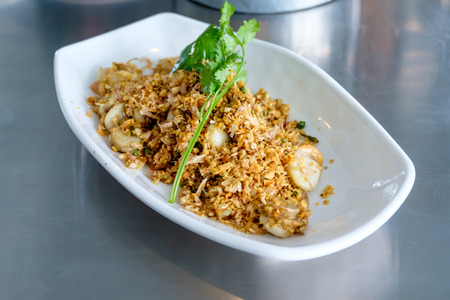 petoncle: Thai Food (Scallop fried chilli salt) Banque d'images