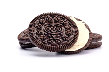 Chocolate Cookies on white background