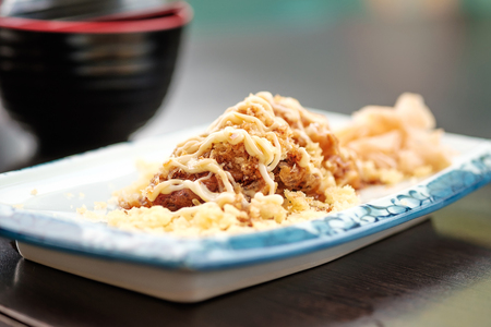 Fried soft shell crab Japanese style Stock Photo