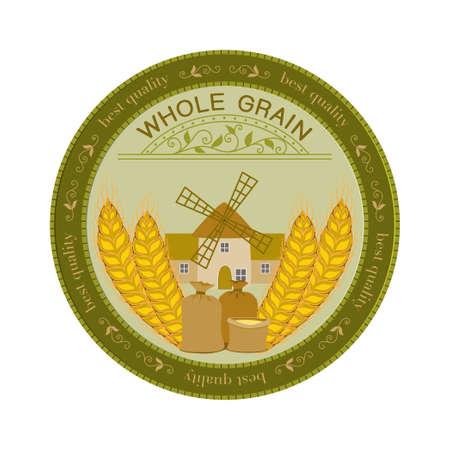 Whole grains. Vector Illustration.