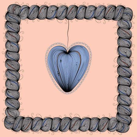 spit: Blue heart. Illustration