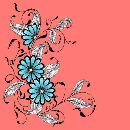 flower bunch: Abstract flowers. Illustration