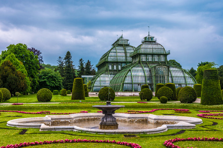 nbrunn: The Palm house in the garden of Schnbrunn Palace in Vienna, Austria.