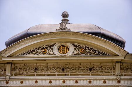 nobility: Roof of the entrance gate of castle Hermesvilla in Vienna, Austria. Hermesvilla is a palace in the Lainzer Tiergarten, Vienna, a former hunting area for the Habsburg nobility.