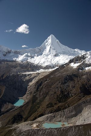 White summit and two lakes Stock Photo - 3467241