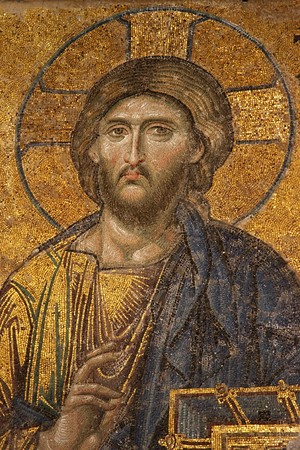 Mosaic of Jesus Christ Editorial