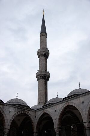 minaret: Mosque minaret Stock Photo