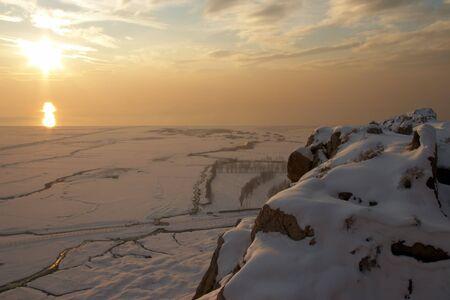 Winter sunset, Van, Turkey