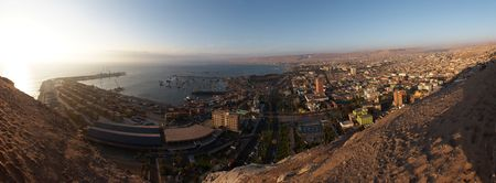 Arica seaport panorama