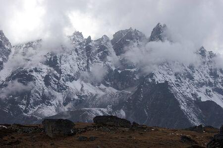 Bad weather in mountains, Himalaya, Nepal Stock Photo - 5388284