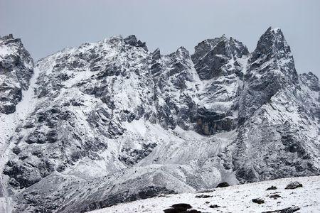 Mountains after snowfall, Himalaya, Nepal Stock Photo - 5388249