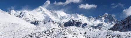 Cho Oyu mountain panorama, Himalayas, Nepal Stock Photo
