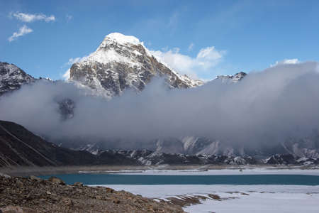 Clouds passing a mountain valley, Himalayas Stock Photo - 5364417