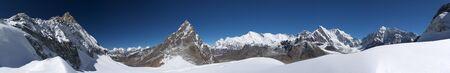 Mountain landscape wide panorama, Himalayas Stock Photo