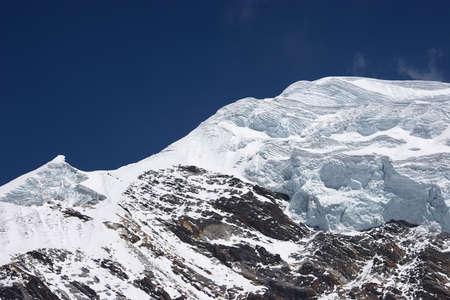 Layers of ice at mountain summit, Himalaya Stock Photo - 5364426