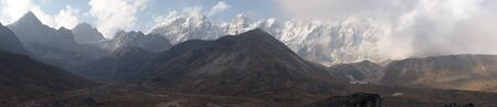 Mountain cloudscape panorama, Himalayas, Nepal