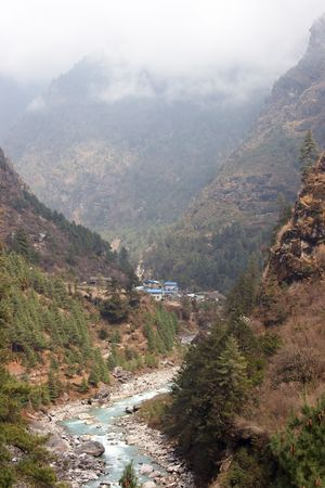 Dudh Kosi river valley, Everest trail, Nepal Stock Photo - 5400307