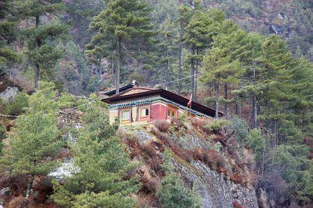 Nepalese guesthouse, Everest trek, Himalayas