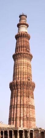 Qutb Minar minaret panorama, Delhi, India Stock Photo