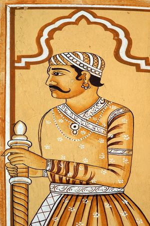 Indian historic warrior painting