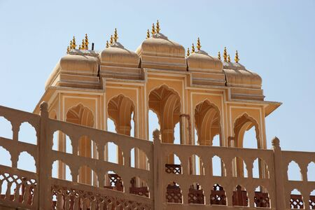 Canopies in Palace of Winds, Jaipur, India photo