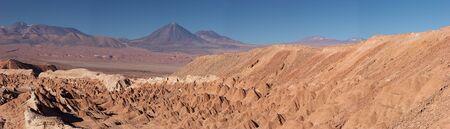 Atacama Desert and volcanoes panorama, Chile Stock Photo