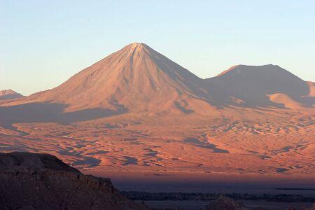 Licancabur volcano at sunset, Atacama Desert, Chile