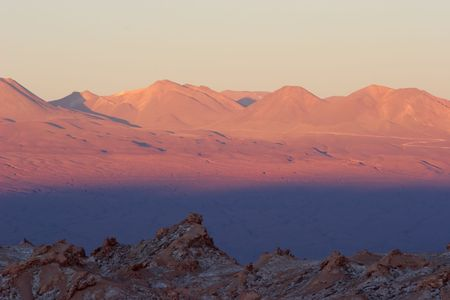 Sunset colors in Atacama Desert, Chile Stock Photo