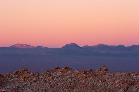 Majestic sunset in Atacama Desert, Chile Stock Photo