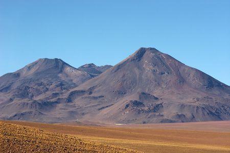 Old volcano in Atacama Desert, Chile Stock Photo