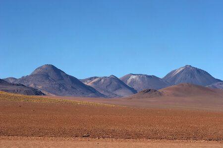 Volcanic range in Atacama Desert, Chile