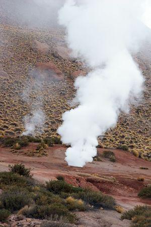 Geyser in Atacama Desert, Chile