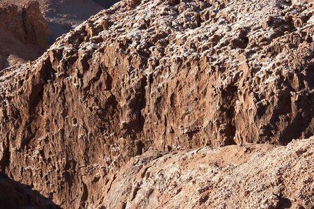 White sediment at canyon rocks, Atacama desert, Chile