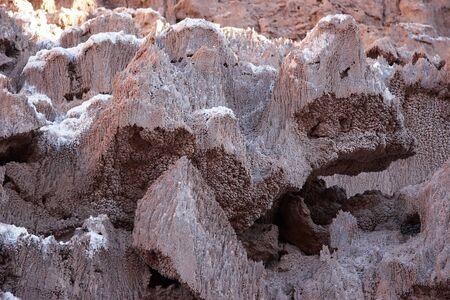 Sedimentary minerals in Atacama desert, Chile Stock Photo