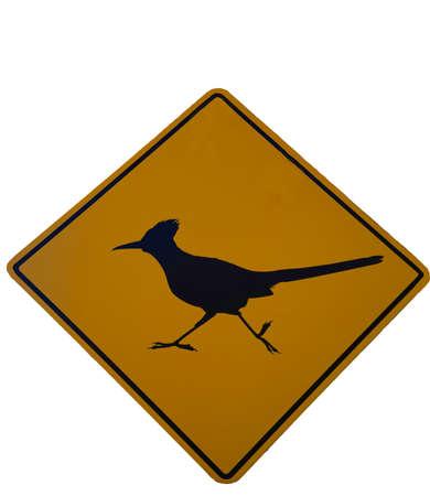 roadrunner crossing road sign