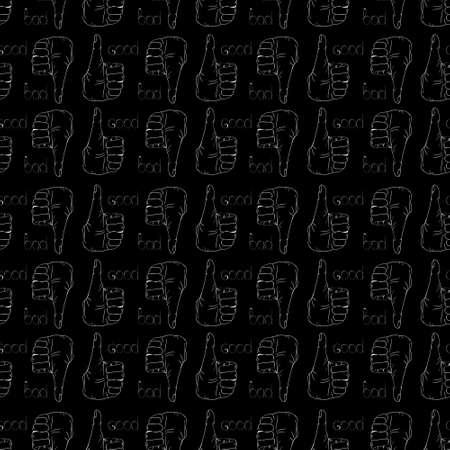 Hand gestures pattern on black background
