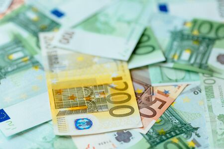 Euro currency background. Euro cash background