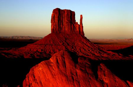 The West Mitten at sunset in Monument Valley. Arizona, USA photo